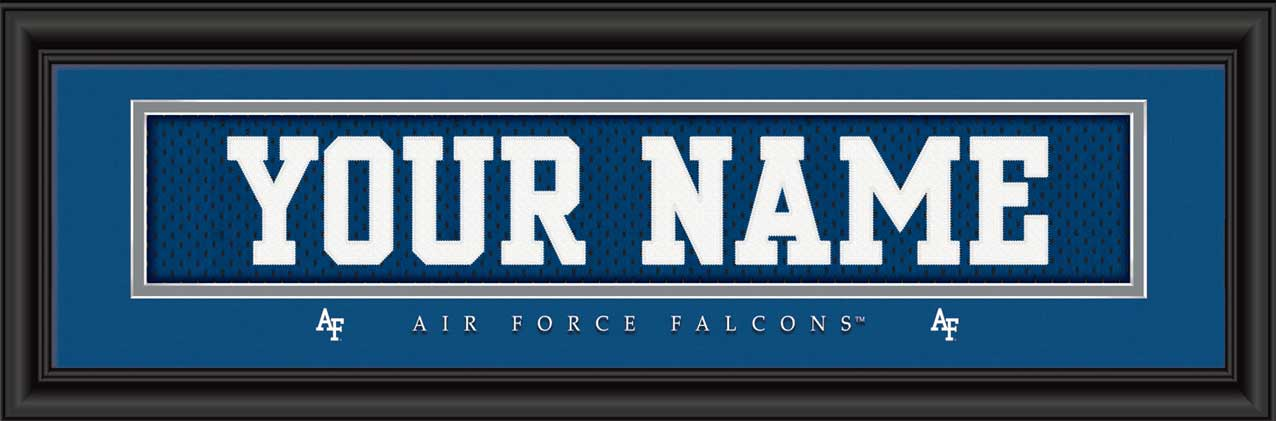 College - Air Force Falcons - Personalized Jersey Nameplate - Framed Picture