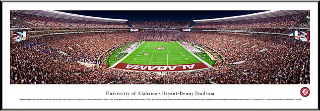 College - Alabama Crimson Tide - Bryant-Denny Stadium - End Zone - Framed Picture