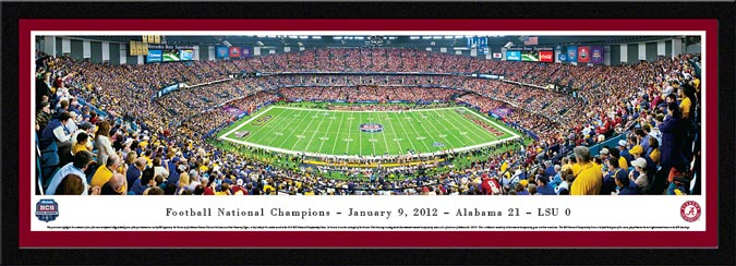 College - Alabama Crimson Tide - 2011 Football National Champions - Framed Picture