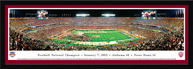 College - Alabama Crimson Tide - 2012 Football National Champions - Framed Picture