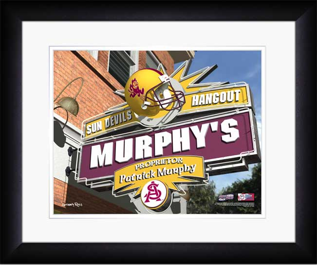College - Arizona State Sun Devils - Personalized Hangout Sign - Framed Picture