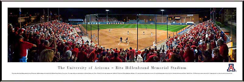 College - Arizona Wildcats - Rita Hillenbrand Memorial Stadium - Framed Picture