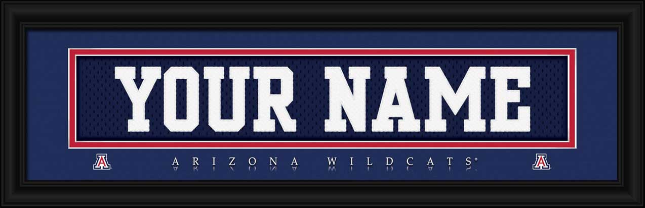 College - Arizona Wildcats - Personalized Jersey Nameplate - Framed Picture