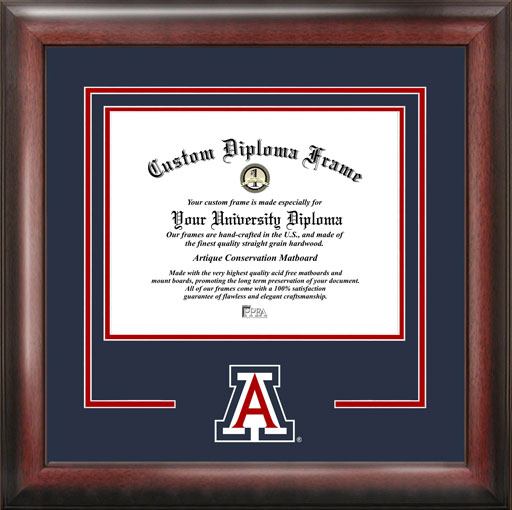 College - University of Arizona Wildcats - College Logo - Spirit Mat Cutout - Diploma Frame
