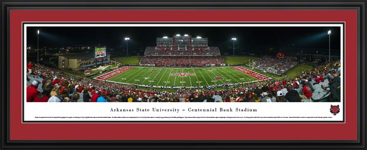 College - Arkansas State Red Wolves - Centennial Bank Stadium - Framed Picture