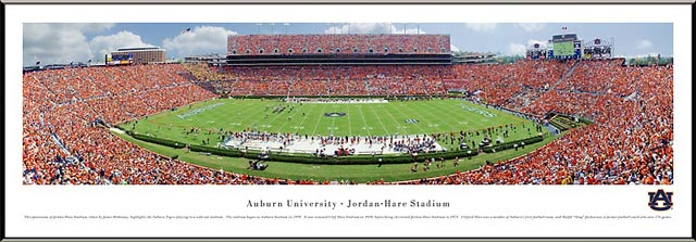 College - Auburn Tigers - Jordan-Hare Stadium - Framed Picture