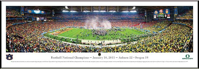 College - Auburn Tigers - 2010 Football National Champions - Framed Picture
