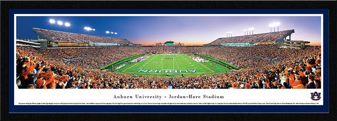 College - Auburn Tigers - Jordan-Hare Stadium - End Zone - Framed Picture