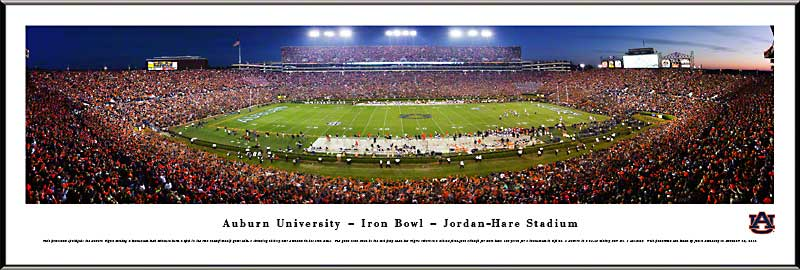 College - Auburn Tigers - Jordan-Hare Stadium - Iron Bowl - Framed Picture