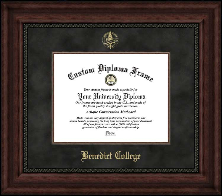 College - Benedict College Tigers - Embossed Seal - Suede Mat - Mahogany - Diploma Frame