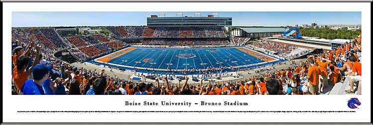 College - Boise State Broncos - Bronco Stadium - Stripe the Stadium - Framed Picture