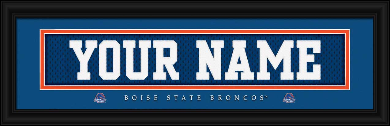 College - Boise State Broncos - Personalized Jersey Nameplate - Framed Picture