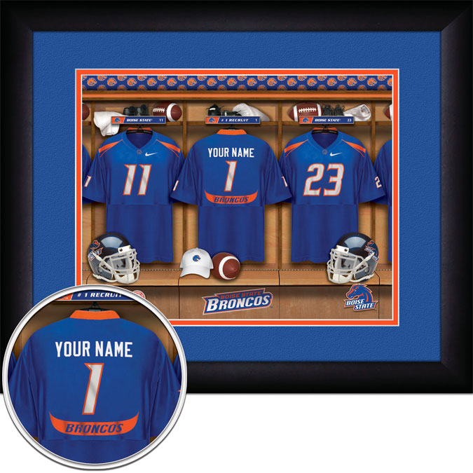 College - Boise State Broncos - Personalized Locker Room - Framed Picture