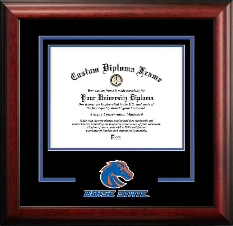 College - Boise State University Broncos - College Mascot - Spirit Mat Cutout - Diploma Frame