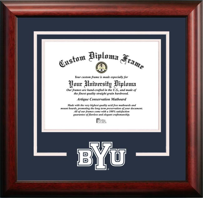 College - Brigham Young University Cougars - College Mascot - Spirit Mat Cutout - Diploma Frame