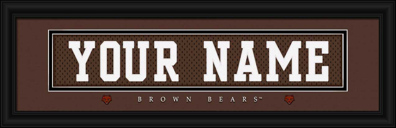 College - Brown Bears - Personalized Jersey Nameplate - Framed Picture