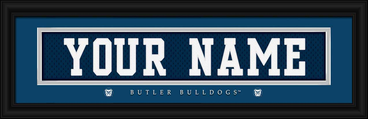 College - Butler Bulldogs - Personalized Jersey Nameplate - Framed Picture