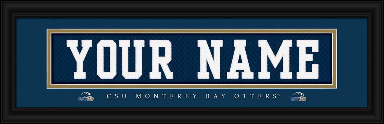 College - California State Monterey Bay Otters - Personalized Jersey Nameplate - Framed Picture