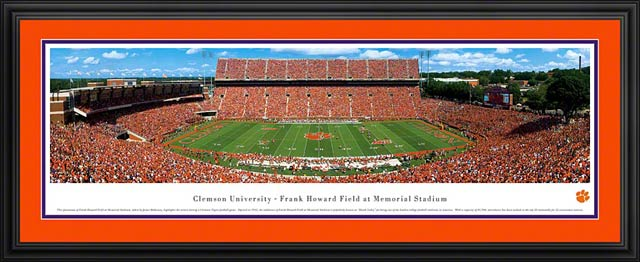 College - Clemson Tigers - Frank Howard Field at Memorial Stadium - Framed Picture