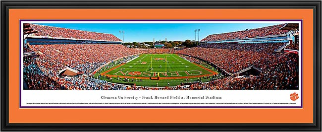 College - Clemson Tigers - Frank Howard Field - End Zone - Framed Picture