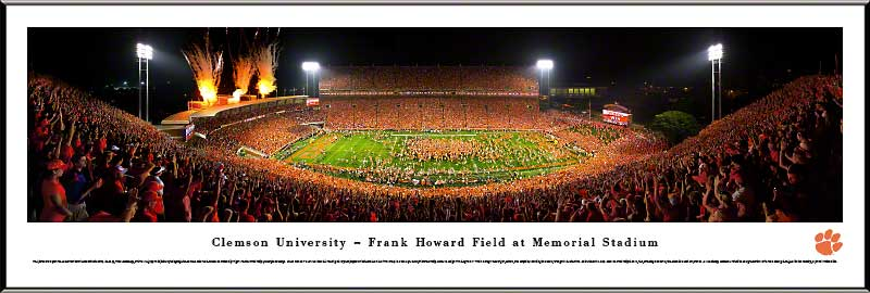 College - Clemson Tigers - Memorial Stadium - Solid Orange Day - Framed Picture