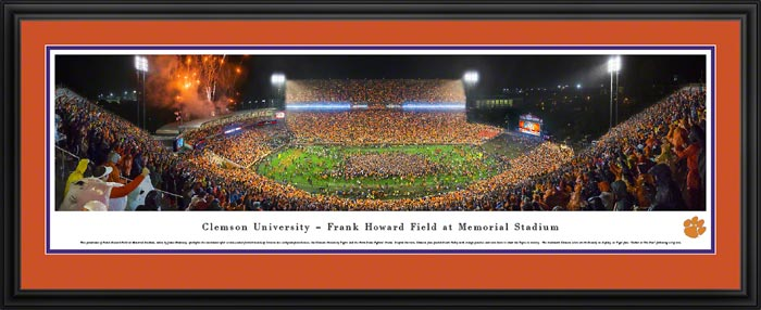 College - Clemson Tigers - Frank Howard Field - Gather at The Paw - Framed Picture