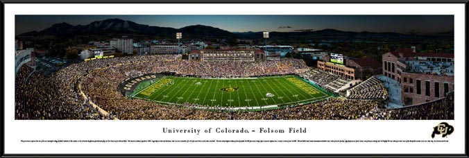 College - Colorado Golden Buffaloes - Folsom Field - Framed Picture