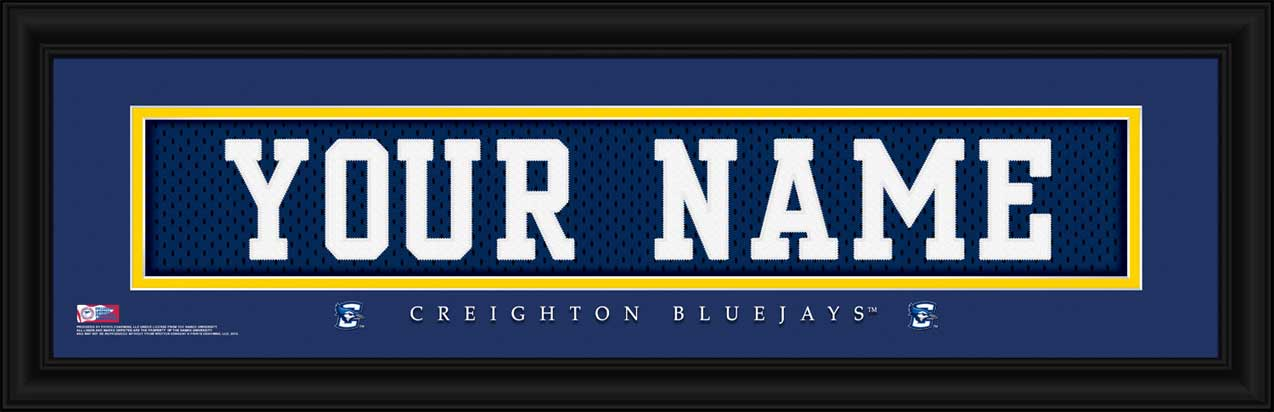 College - Creighton Bluejays - Personalized Jersey Nameplate - Framed Picture
