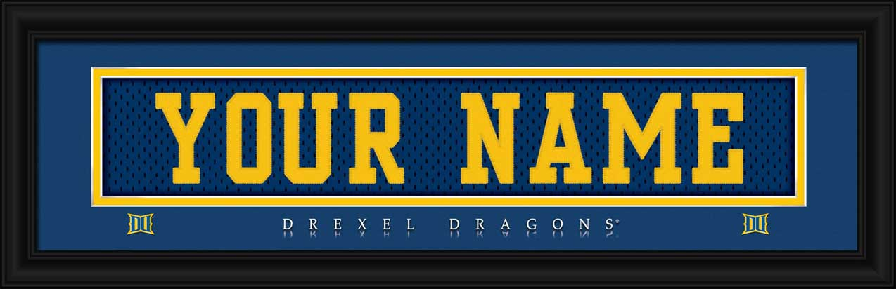 timeless design 35a2b 2c2c3 Drexel Dragons Framed Poster Print - Personalized Jersey ...