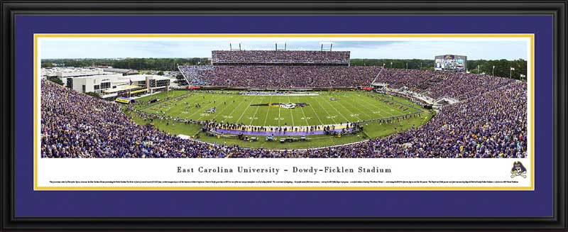 College - East Carolina Pirates - Dowdy-Ficklen Stadium 2014 - Framed Picture