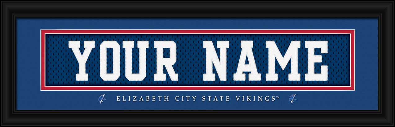 College - Elizabeth City State Vikings - Personalized Jersey Nameplate - Framed Picture
