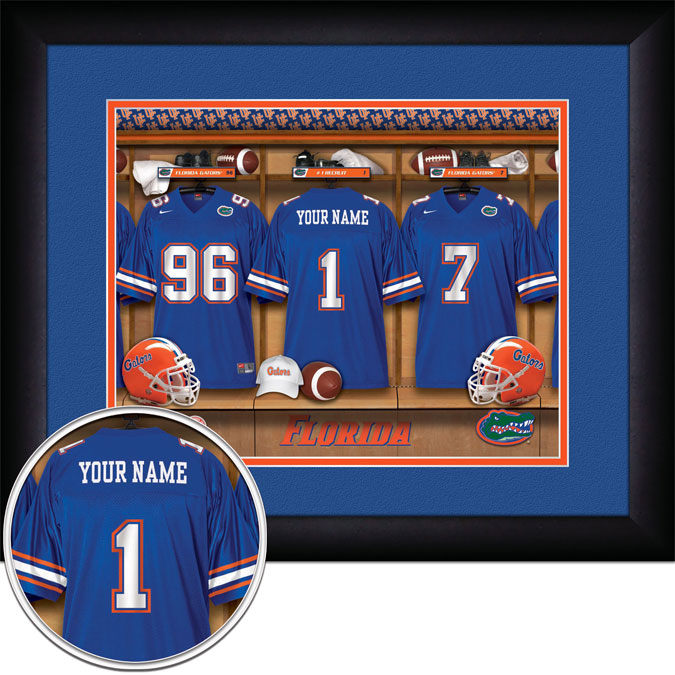 College - Florida Gators - Personalized Locker Room - Framed Picture