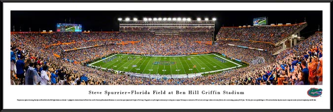 College - Florida Gators - Ben Hill Griffin Stadium - Framed Picture