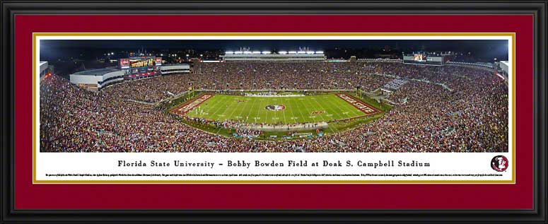 Florida State Seminoles Framed Panoramic Poster Print