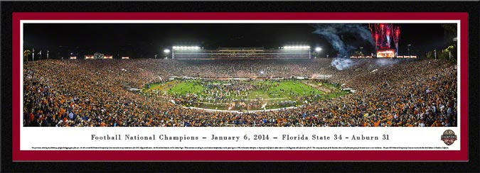 College - Florida State Seminoles - 2013 Football National Champions - Framed Picture