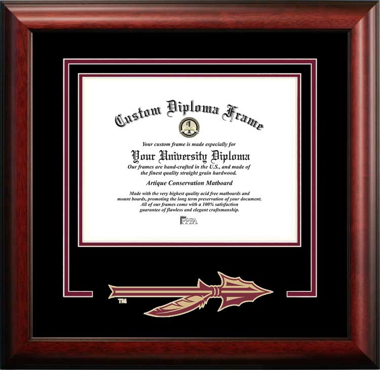 College - Florida State University Seminoles - College Logo - Spirit Mat Cutout - Diploma Frame