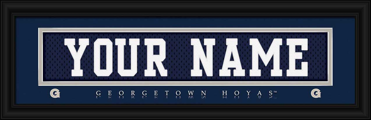 College - Georgetown Hoyas - Personalized Jersey Nameplate - Framed Picture