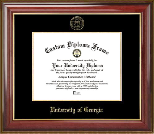 details buy college university of georgia bulldogs embossed seal mahogany gold trim diploma frame