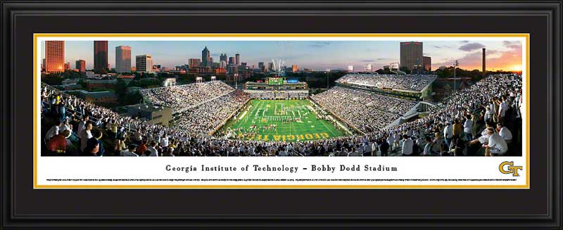 College - Georgia Tech Yellow Jackets - Grant Field - 100th Celebration - Framed Picture