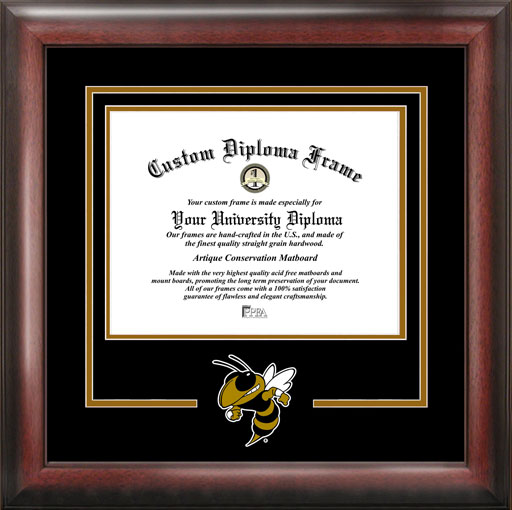 College - Georgia Inst. of Technology Yellow Jackets - College Mascot - Spirit Mat Cutout - Diploma Frame