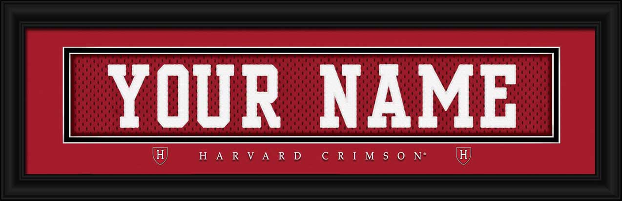 College - Harvard Crimson - Personalized Jersey Nameplate - Framed Picture
