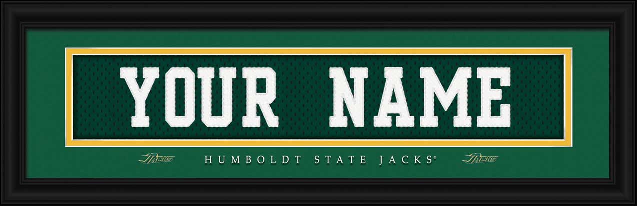 College - Humboldt State Lumberjacks - Personalized Jersey Nameplate - Framed Picture