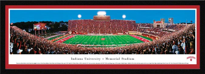 College - Indiana Hoosiers - Memorial Stadium - Framed Picture