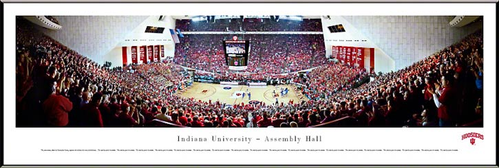 College - Indiana Hoosiers - Assembly Hall - Red Out - Framed Picture
