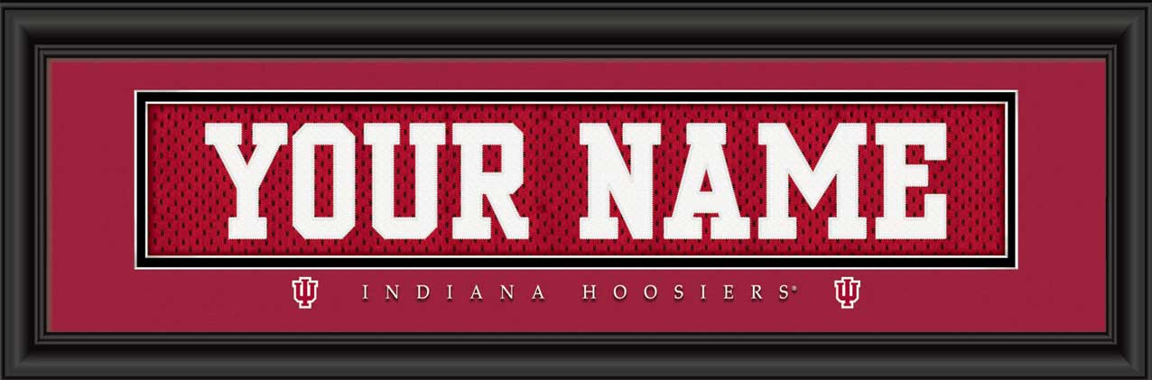 College - Indiana Hoosiers - Personalized Jersey Nameplate - Framed Picture