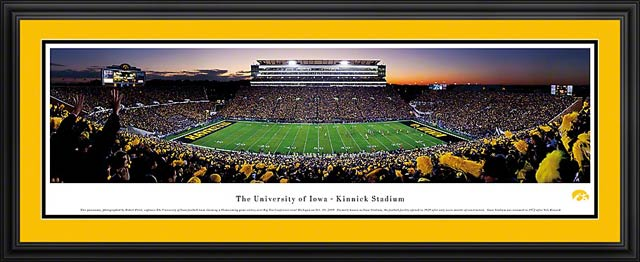 College - Iowa Hawkeyes - Kinnick Stadium - Framed Picture