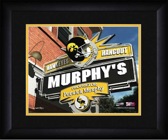 College - Iowa Hawkeyes - Personalized Hangout Sign - Framed Picture