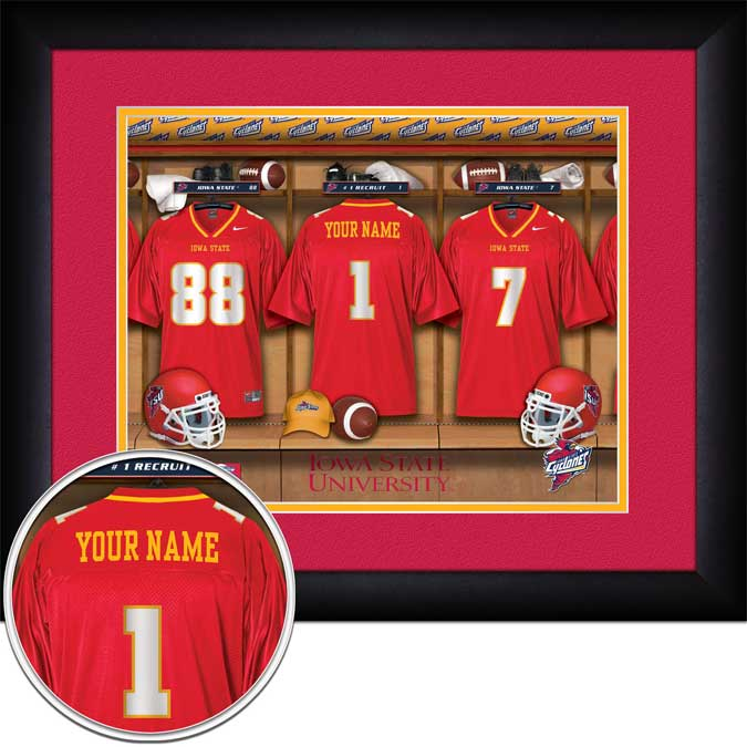 College - Iowa State Cyclones - Personalized Locker Room - Framed Picture