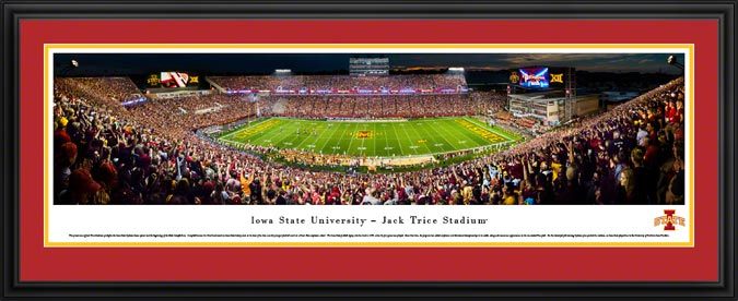 College - Iowa State Cyclones - Jack Trice Stadium - Framed Picture