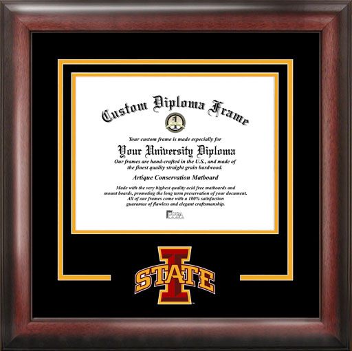 College - Iowa State University Cyclones - College Logo - Spirit Mat Cutout - Diploma Frame
